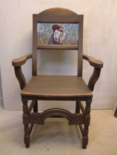 05. Stol med hundeportrett - Chair with portrait of dog